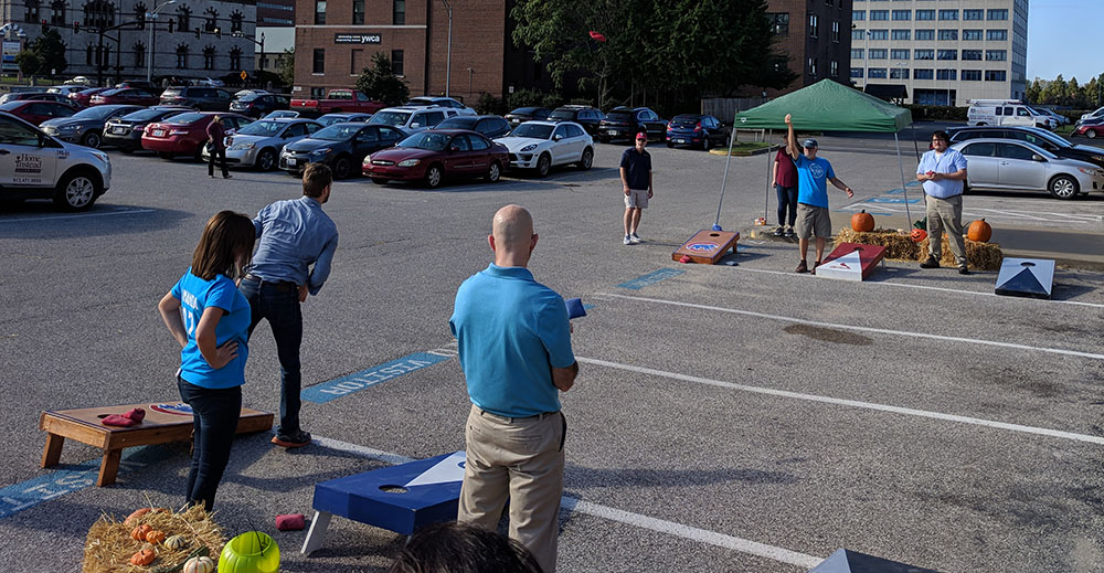 cornhole tournament play
