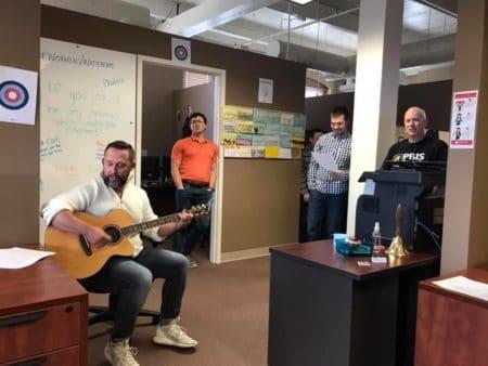 matt singing office