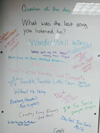 workplace whiteboard last song